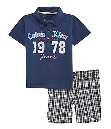 Calvin Klein Toddler Polo Shirt  & Shorts Set