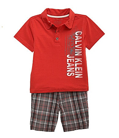 Calvin Klein Toddler 2-Piece Polo/Shorts Set
