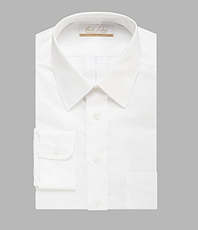 Gold Label Roundtree & Yorke Regular-Fit Point-Collar Dress Shirt