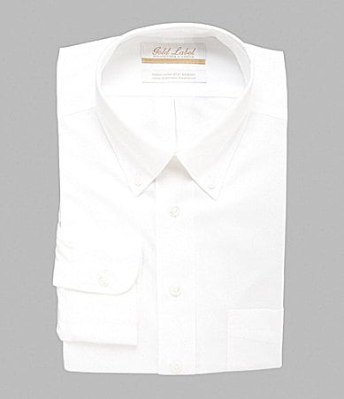 Gold Label Roundtree & Yorke Regular-Fit Button-Down Collar Dress Shirt
