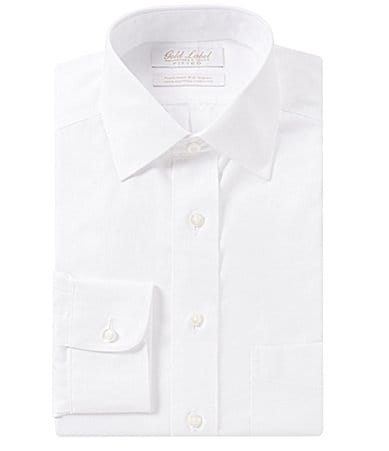Gold Label Roundtree & Yorke Fitted Spread-Collar Dress Shirt