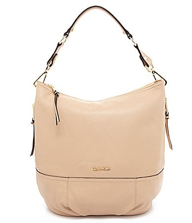 Calvin Klein Pebble Leather Hobo Bag