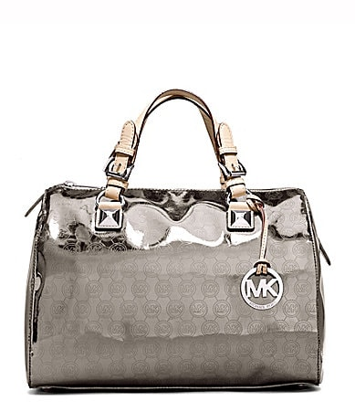MICAHEL Michael Kors Grayson Mirror Metallic Satchel Bag