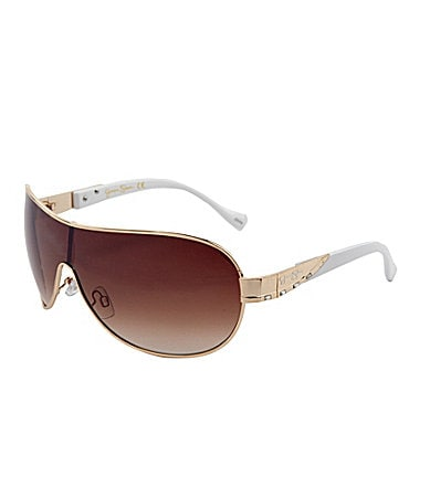 Jessica Simpson Full Rim Shield Sunglasses