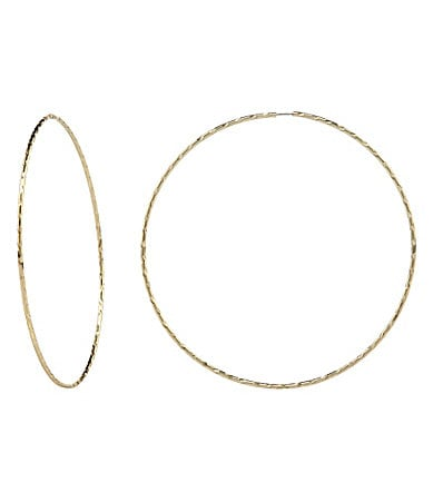 Jessica Simpson Thin Hoop Earrings