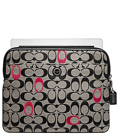 COACH POPPY EMBROIDERED SIGNATURE UNIVERSAL SLEEVE