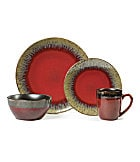 Mikasa Calder Red 16-Piece Dinnerware Set