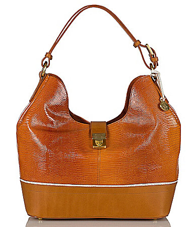 Brahmin Sand Simon Collection Rhoda Hobo