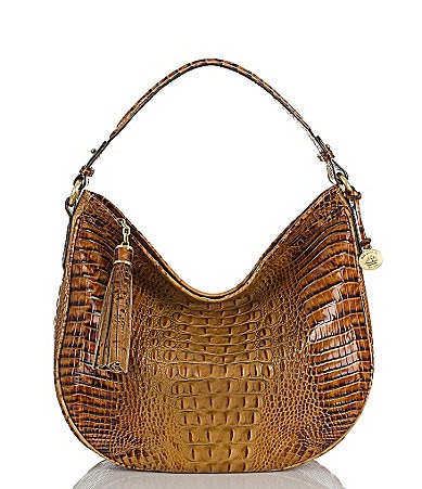 Brahmin Toasted Almond Collection Kathleen Hobo Bag