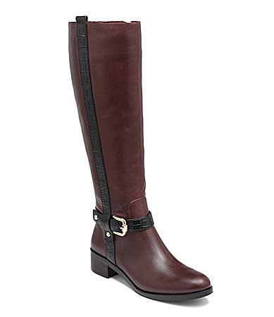 vince camuto vincina two tone boots brown black