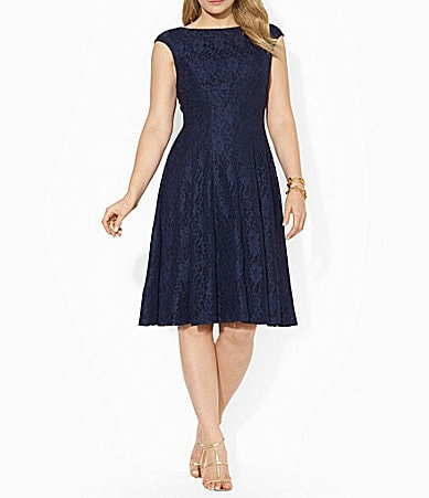 Lauren Ralph Lauren Woman A-Line Lace Dress