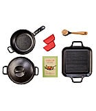 Lodge Pro-Logic Cast Iron 8-Piece Specialty Set
