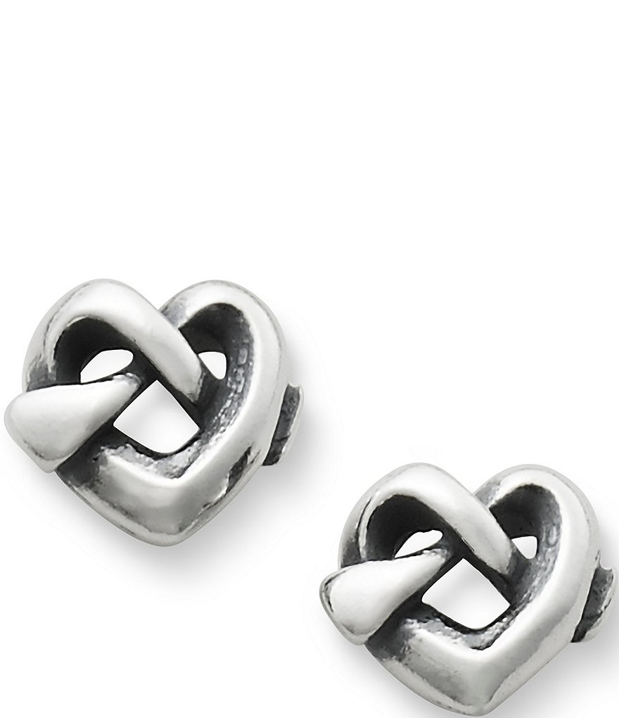 avery stud earrings avery knot stud sterling silver earrings 1329