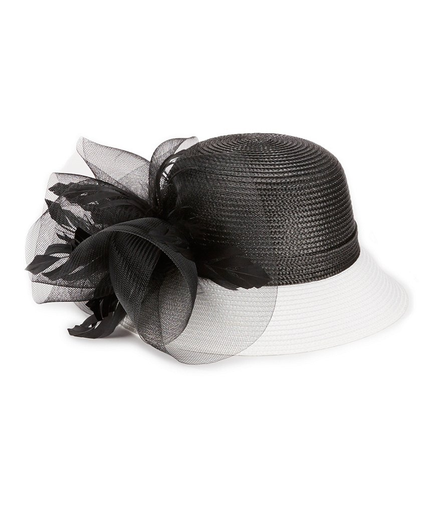 Edwardian Style Hats, Titanic Hats, Derby Hats August Hats Orchid Cloche Hat $48.00 AT vintagedancer.com