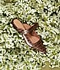Color:Chestnut - Image 5 - Jemma Croc Embossed Leather Mules