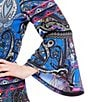 Color:Blue Multi - Image 2 - Calessa Plus Bell Sleeve Paisley Tunic