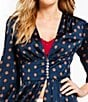 Color:Navy - Image 2 - Free People Alexa Floral Kimono Duster