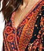 Color:Black Combo - Image 3 - Free People Havana Muscle Printed Faux Wrap Style Blouse