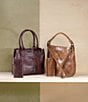 Color:Cognac - Image 6 - Frye Melissa Washed Leather Tote
