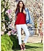 Color:Optic White - Image 5 - KUT from the Kloth Amy Crop Straight Leg Jeans