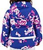 Color:Bluebird Day - Image 5 - Little/Big Girls 1-8 Iris Bluebird Day Print Ski Jacket