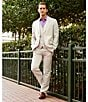 Color:Natural Linen - Image 6 - Perry Ellis Big & Tall Regular-Fit Flat-Front Herringbone Pants