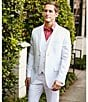 Color:Bright White - Image 7 - Perry Ellis Solid Linen Pants