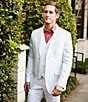 Color:Bright White - Image 3 - Perry Ellis Solid Linen Vest
