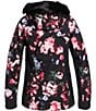 Color:True Black Blooming Party - Image 6 - Jet Ski Premium Blooming Party Faux-Fur Snow Ski Jacket