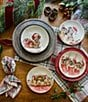 Color:Multi - Image 2 - Holiday Dachsund Puppy Accent Plates, Set of 2