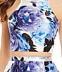 Color:Royal/Light Purple/Multi - Image 2 - Xtraordinary Floral Print Two-Piece High-Low Dress