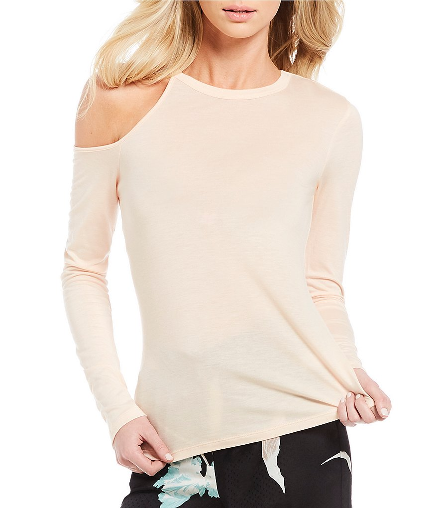 1. STATE Cut Out Long Sleeve Top
