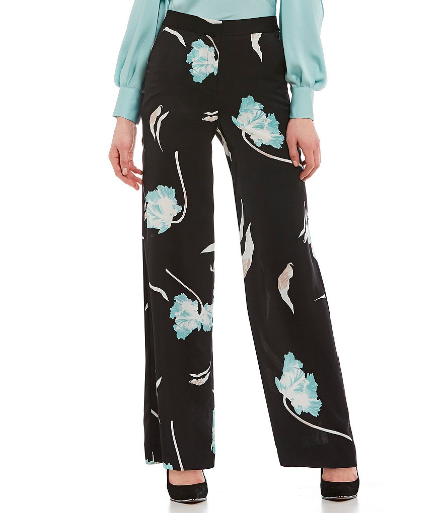 1. STATE Floral Print Wide Leg Soft Pant