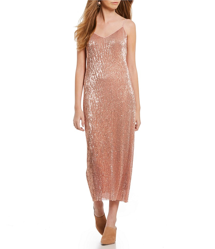 1. STATE Midi Sequin Slip Dress
