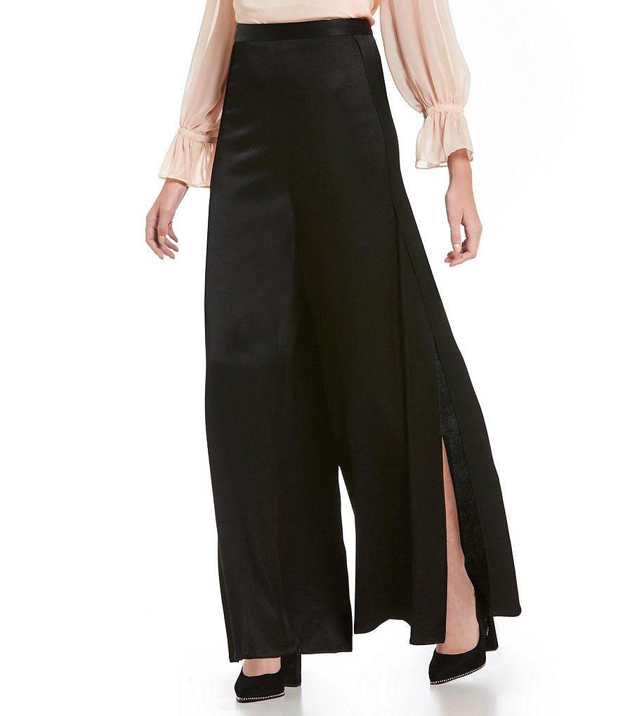 1. STATE Wide Leg Side Slit Pant