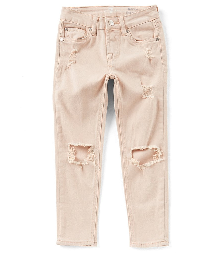 7 for all mankind Big Girls 7-14 The Ankle Skinny Colored Jeans