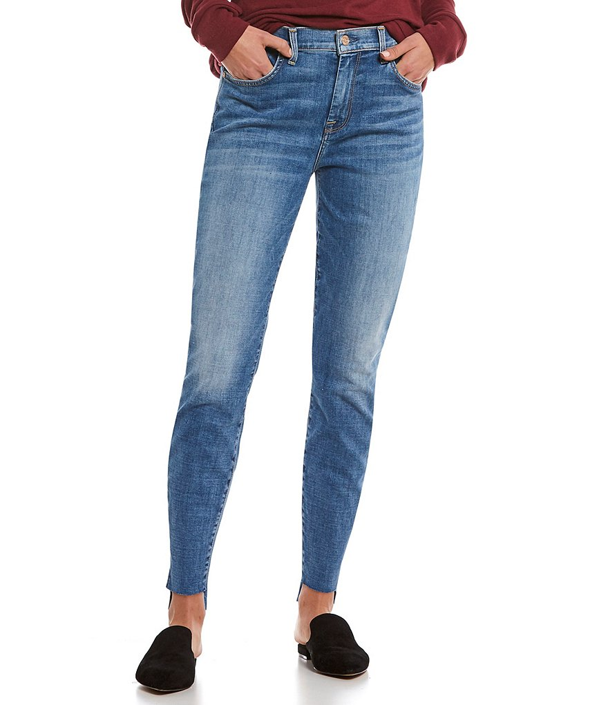 7 for all mankind Helmet Hemmed Step Hem Ankle Skinny Jeans