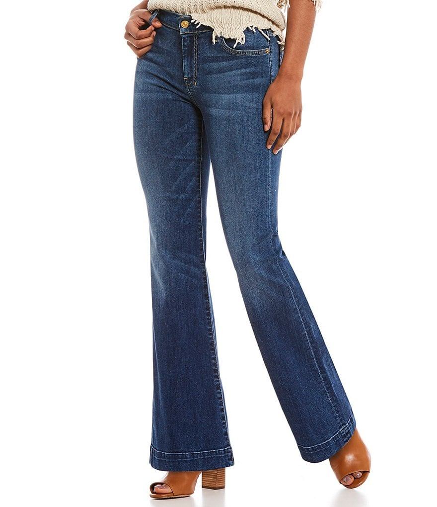 7 for all mankind Tailorless Dojo Flare Leg Jeans
