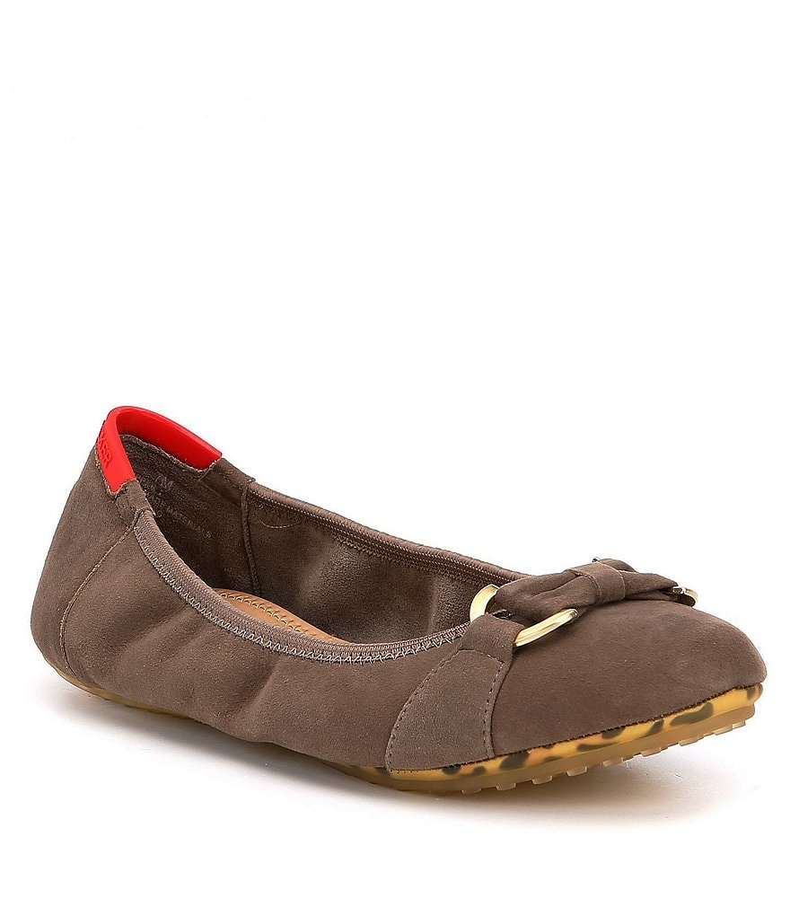 Adam Tucker by Me Too Kelly Suede O-Ring Strap Ballerina Flats