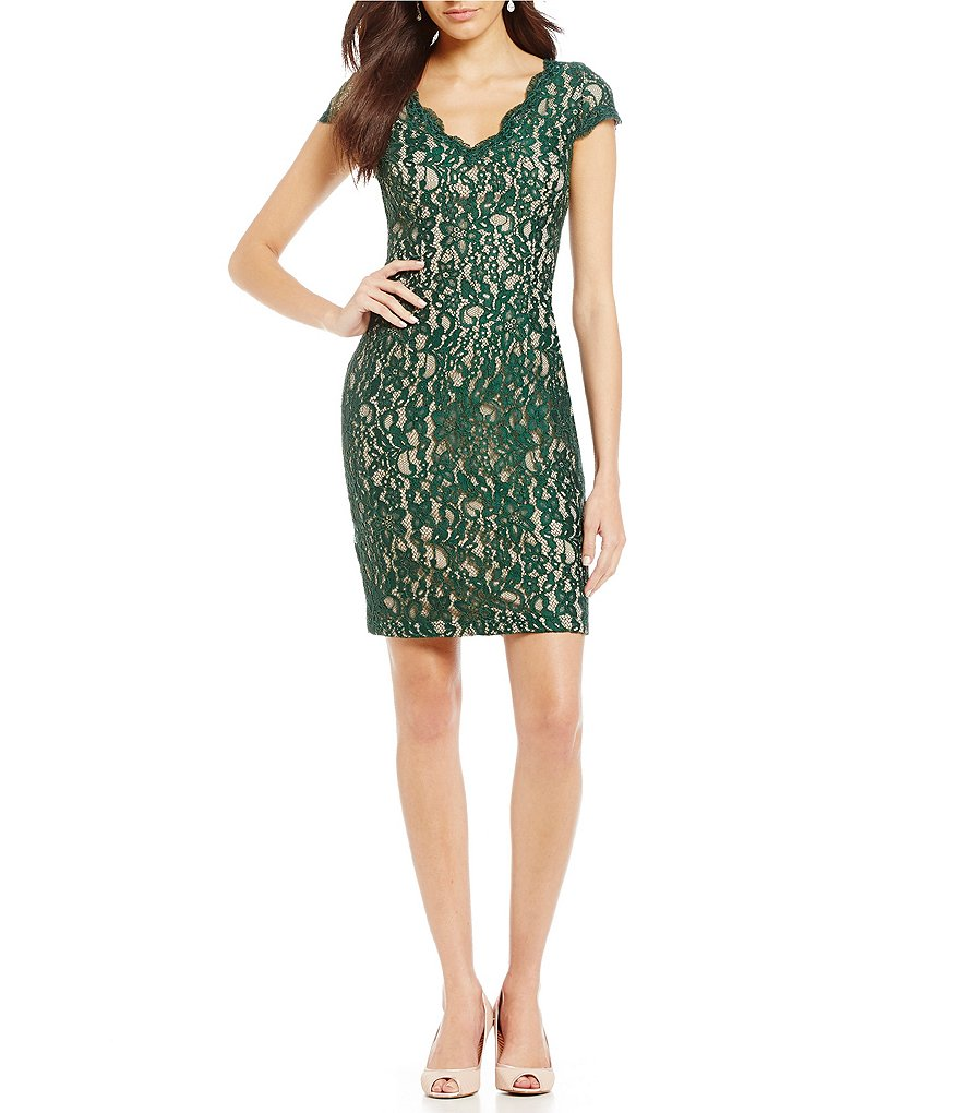 Adrianna Papell Aubrey Lace Sheath Dress
