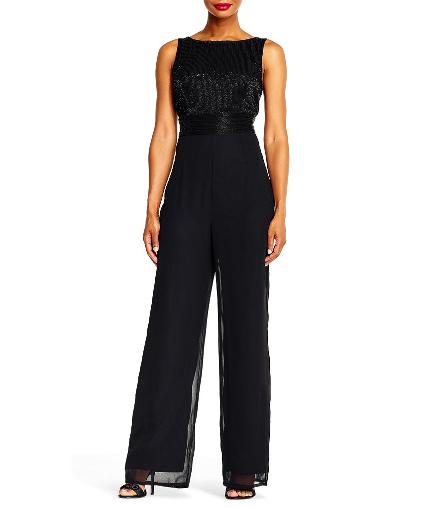 Adrianna Papell Beaded Jumpsuit