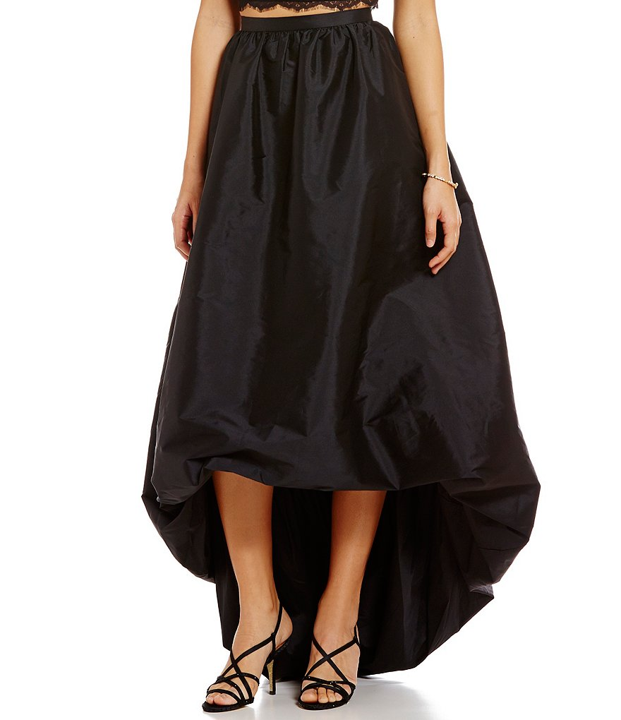 Adrianna Papell Bubble Taffeta Hi-Low Tea-Length Skirt
