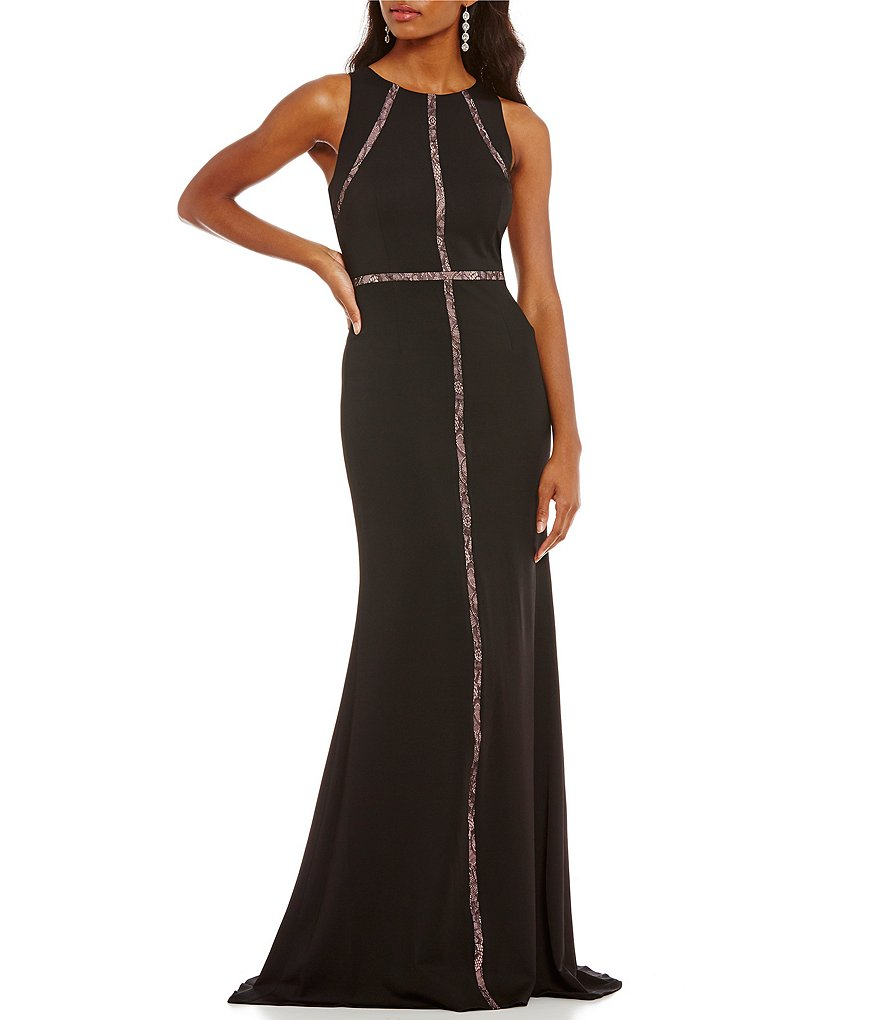 Adrianna Papell Jersey Halter Mermaid Gown