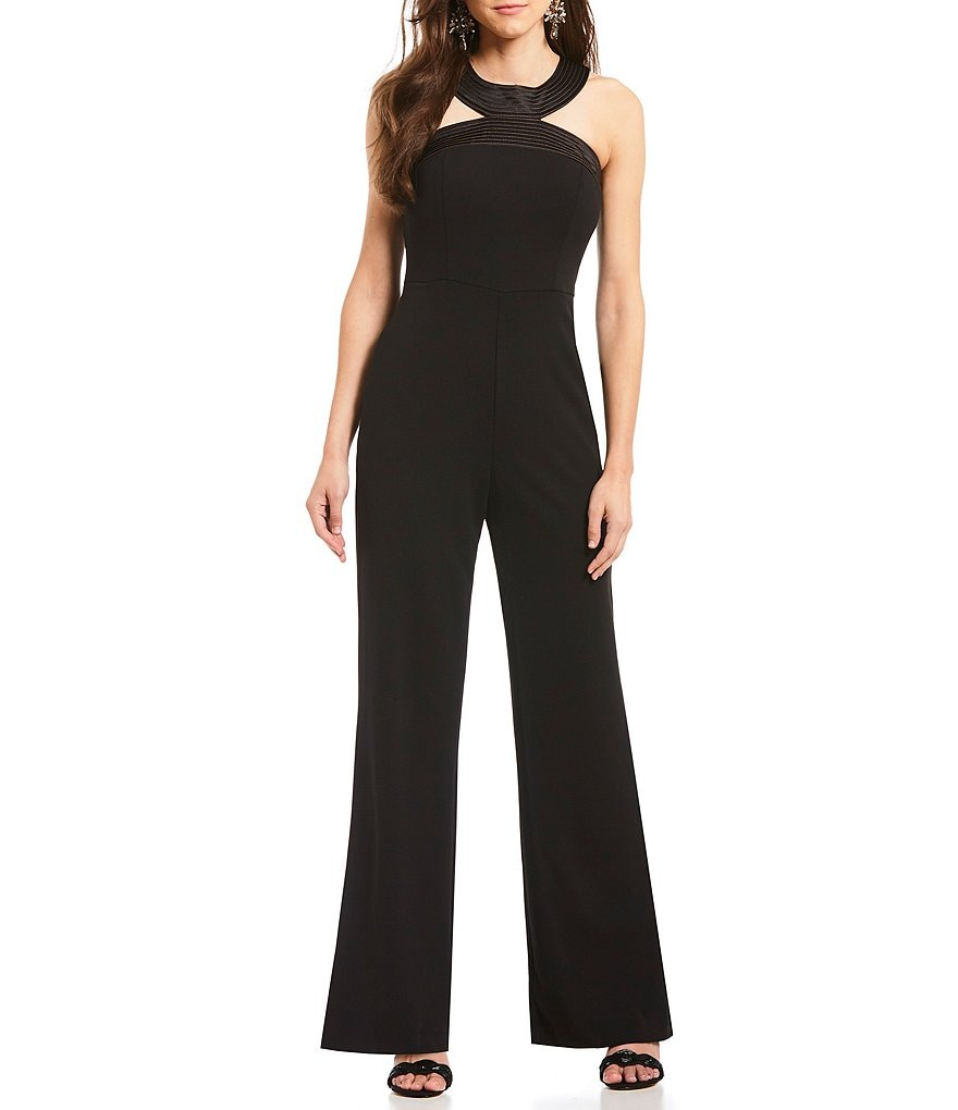 Adrianna Papell Knit Crepe Halter Jumpsuit