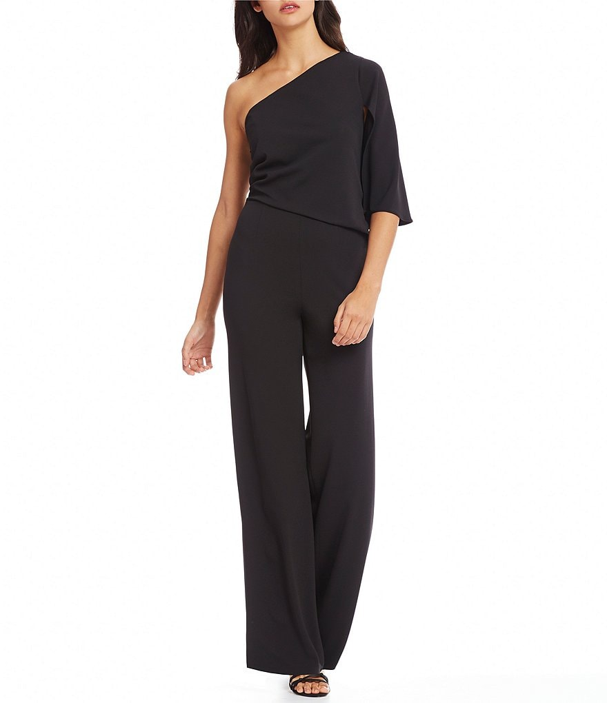 Adrianna Papell Knit Crepe One-Shoulder Jumpsuit
