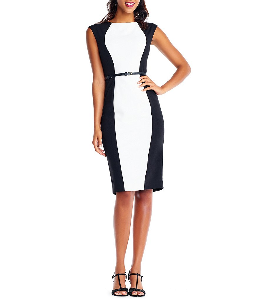 Adrianna Papell Knit Crepe Sheath Dress