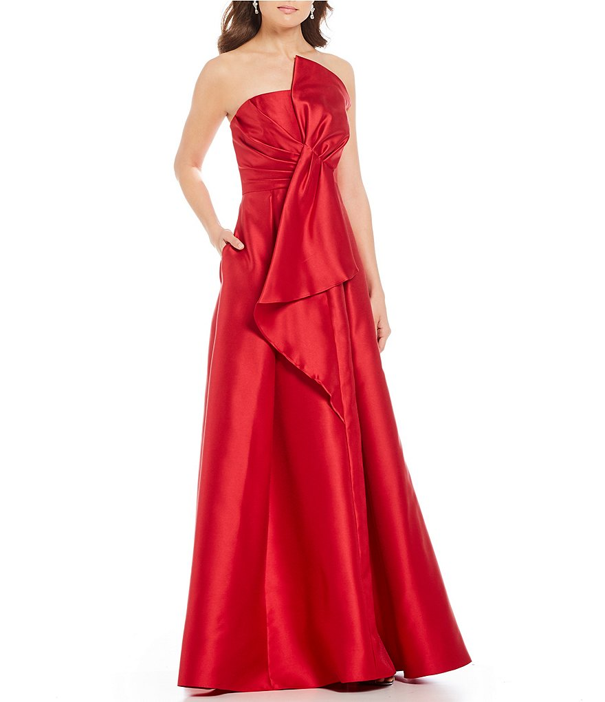 Dillards Wedding Gifts: Adrianna Papell Mikado Strapless Bow Gown