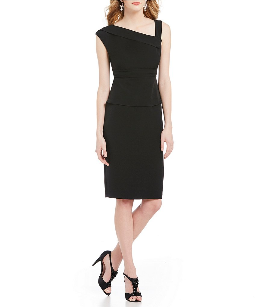 Adrianna Papell Origami Neck Sheath Dress