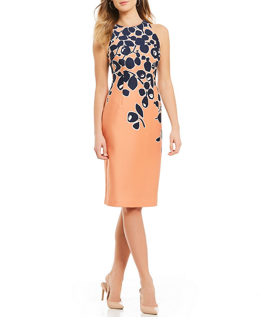 Adrianna Papell Printed Sheath Dress