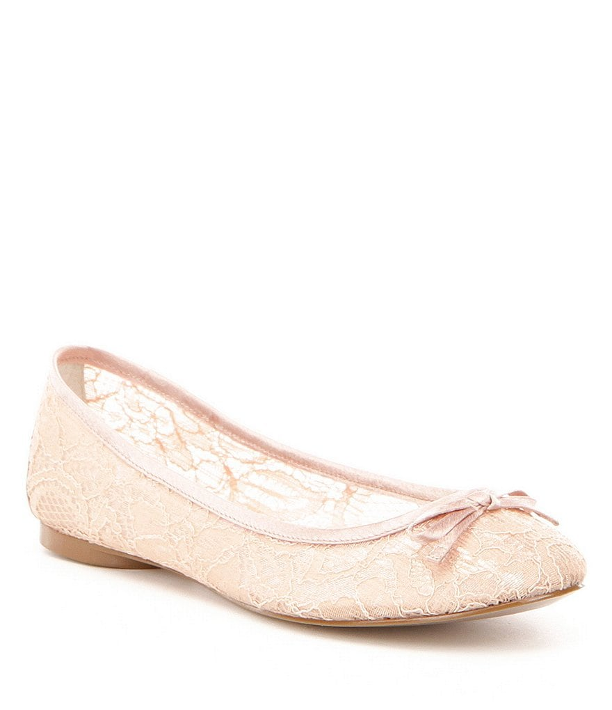 Adrianna Papell Sage Lace Bow Detail Ballet Flats